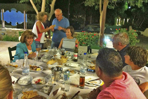 The dinner party in Limnos