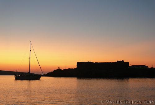Sunset at Sigri